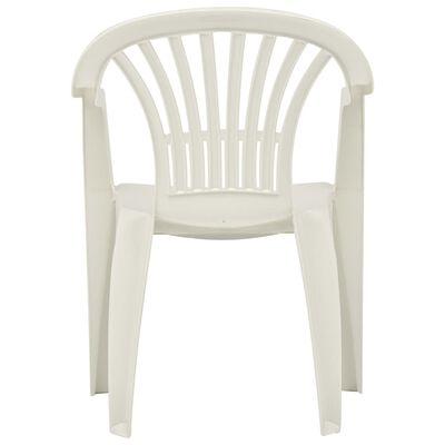 vidaXL Stackable Garden Chairs 45 pcs Plastic White