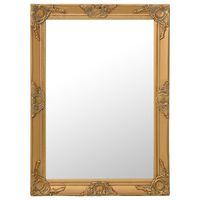 vidaXL Wall Mirror Baroque Style 60x80 cm Gold