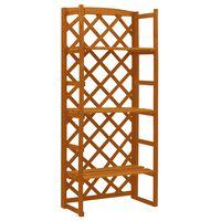 vidaXL Garden Trellis Planter with Shelves Orange 60x30x140 cm Solid Firwood
