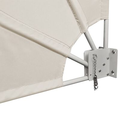 vidaXL Collapsible Balcony Side Awning Cream 140x140 cm