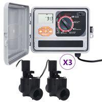 vidaXL Garden Water Irrigation Controller with 6 Solenoid Valves