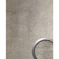 Wallface 12893-sa Wall Panel Iguana Leather Look Silver