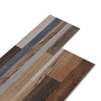 vidaXL PVC Flooring Planks 5.26 m² 2 mm Multicolour