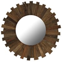 vidaXL Wall Mirror Solid Reclaimed Wood 70 cm