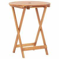 vidaXL Folding Garden Table 60x75 cm Solid Acacia Wood