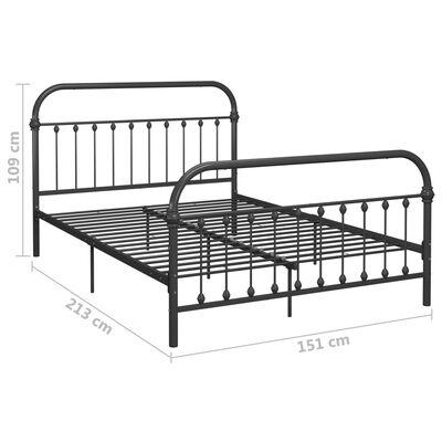 vidaXL Bed Frame Grey Metal 140x200 cm