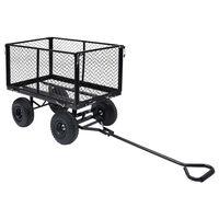 vidaXL Garden Hand Trolley Black 350 kg