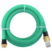vidaXL Suction Hose with Brass Connectors 4 m 25 mm Green
