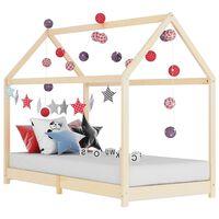 vidaXL Kids Bed Frame Solid Pine Wood 70x140 cm