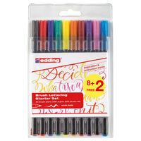 edding Brush Lettering Starter Set 8+2pcs 1340