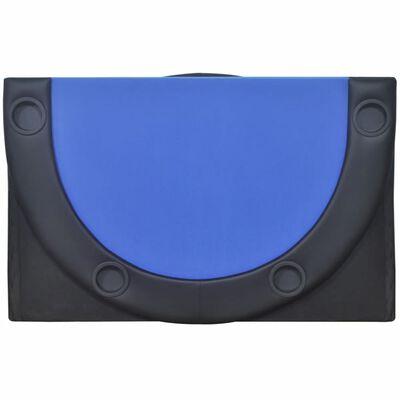 vidaXL 10-Player Foldable Poker Tabletop Blue