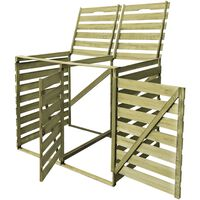 vidaXL Double Wheelie Bin Shed 240 L Impregnated Wood
