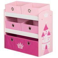 roba Toy Storage Unit Crown Pink 63.5x30x60 cm MDF