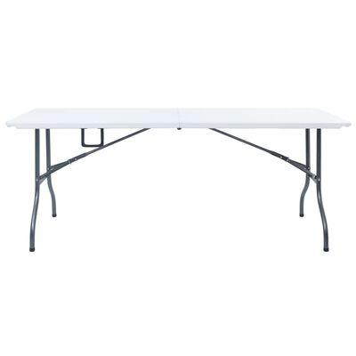 vidaXL Folding Garden Table White 180x72x72 cm HDPE