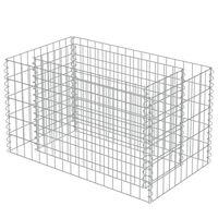 vidaXL Gabion Raised Bed Galvanised Steel 90x50x50 cm