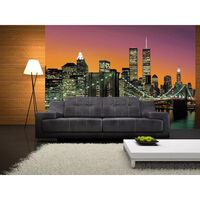 Walplus Wall Mural Paper, Dusk New York View, Home Decoration