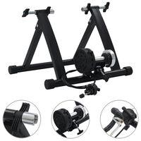 "vidaXL Roller Trainer Black 26""-28"" Steel Black"