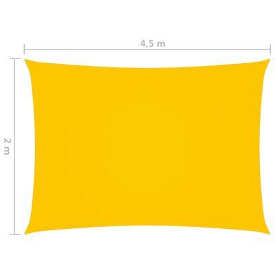vidaXL Sunshade Sail Oxford Fabric Rectangular 2x4.5 m Yellow