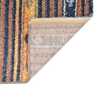 vidaXL Rug Blue and Orange 140x200 cm PP