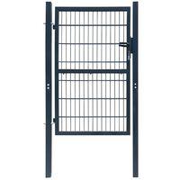 2D Fence Gate (Single) Anthracite Grey 106 x 210 cm