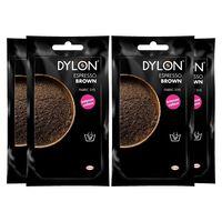 Dylon Hand Fabric Dye Sachet, Espresso Brown, 4 Packs Of 50g