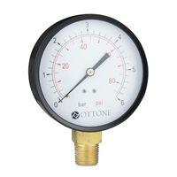 6 Bar Pressure Gauge Air Oil Water 100mm 1/2 Inch Side Entry Manometer