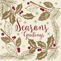 Swantex Seasons Greetings Christmas Napkins 2 Ply 33cm - 10 x 100