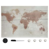 vidaXL Wall Mounted Magnetic Board Glass 50x30 cm