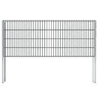 vidaXL 2D Gabion Fence Galvanised Steel 2.008x0.83 m 18 m (Total Length) Grey