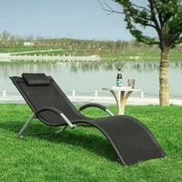 SoBuy Outdoor Garden Sun Lounger Relaxing ReclinerOGS38-SCH
