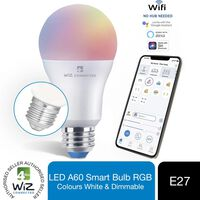 Wiz Led A60 Smart Bulb E27 Rgbw Colours Tuneable White & Dimmable 2pk