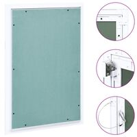 vidaXL Access Panel with Aluminium Frame and Plasterboard 300x600 mm