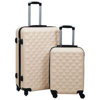 vidaXL Hardcase Trolley Set 2 pcs Gold ABS