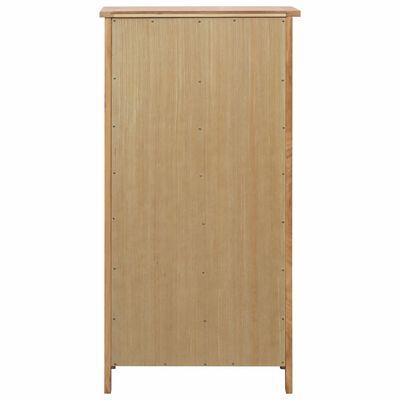 vidaXL Shoe Cabinet 76x37x105 cm Solid Oak Wood