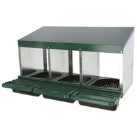 Kerbl Chicken Laying Nest 3 Sections Plastic Green