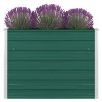 vidaXL Raised Garden Bed 100x100x77 cm Galvanised Steel Green