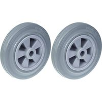 """200mm 8"""" wheel grey rubber tyre with plastic centre 410kg capacity,"""
