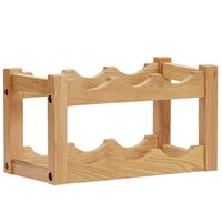 vidaXL Wine Rack for 6 Bottles 37x21x21 cm Solid Oak Wood