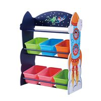 Fantasy Fields Children Outer Space Wooden Toy Storage Tidy Organiser
