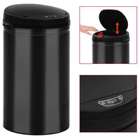 vidaXL Automatic Sensor Dustbin 40 L Carbon Steel Black