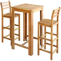 vidaXL Bar Table and Chair Set 7 Pieces Solid Acacia Wood