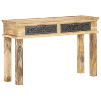 vidaXL Console Table with Drawers 120x35x75 cm Solid Mango Wood