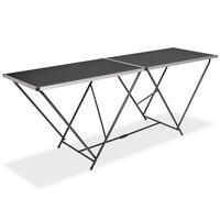 vidaXL Folding Pasting Table MDF and Aluminium 200x60x78 cm