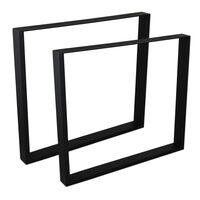 2 x Rectangle Table Legs / Industrial 710mm x 800mm Matte black