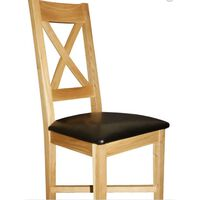 Cravony Cross Back Kitchen Dining Chair Solid Wood Frame Fully