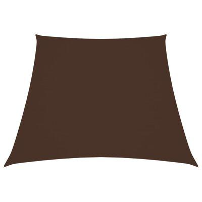 vidaXL Sunshade Sail Oxford Fabric Trapezium 4/5x4 m Brown