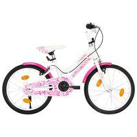 vidaXL Kids Bike 18 inch Pink and White