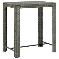 vidaXL Garden Bar Table Grey 100x60.5x110.5 cm Poly Rattan