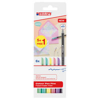 edding Classic Colour Pen Fine 6pcs Multicolour 1200