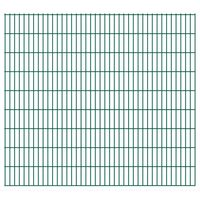 vidaXL 2D Garden Fence Panels 2.008x1.83 m 36 m (Total Length) Green